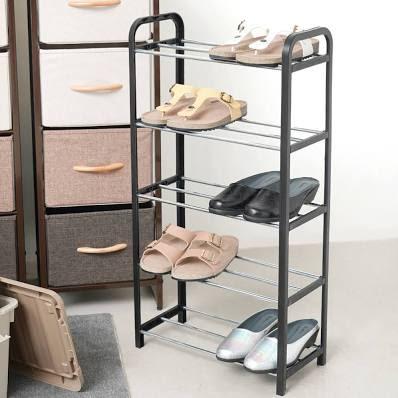 Rak Sepatu 5 Tingkat 42x20x79 Cm - Hitam