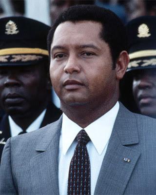El dictador haitiano Jean Claude Duvalier.