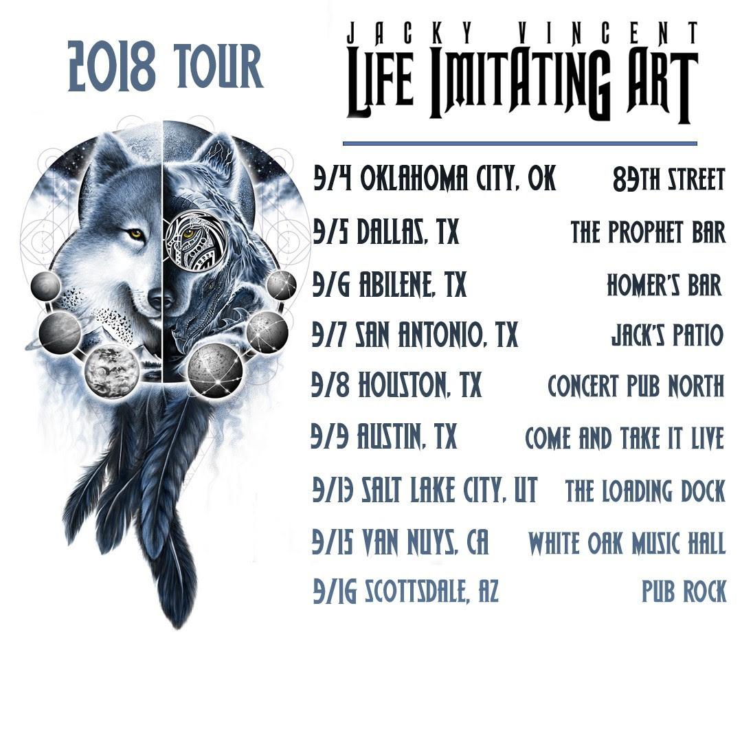 jacky vincent tour poster