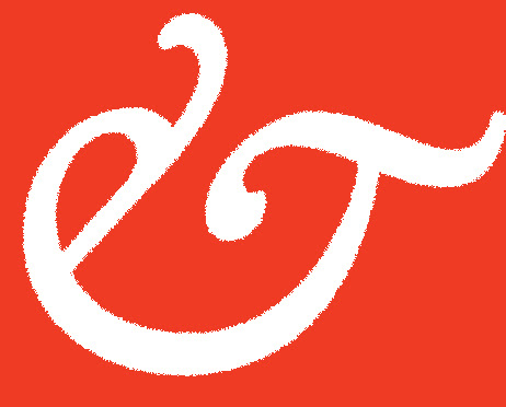 ampersand white red