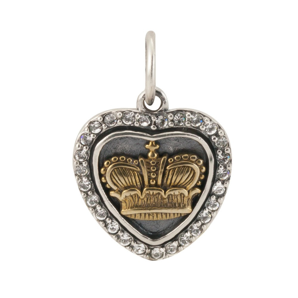 Heart's Content Charm - Crown