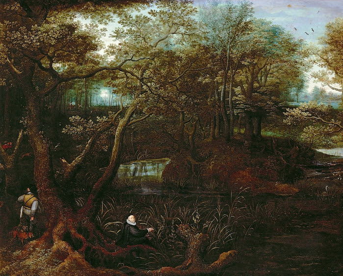 Lucas_van_Valckenborch_-_Fisherman_at_the_forest_pond_(Self-portrait_of_the_artist) (700x562, 611Kb)