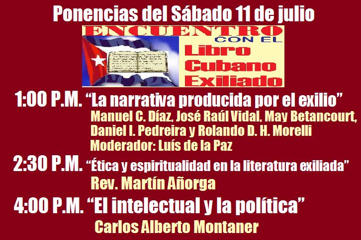 ponencias del sabado 11 de julio