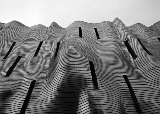 Photo of architecture, architecture design, black and white