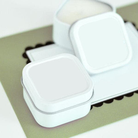 Blank Square Candle Tins