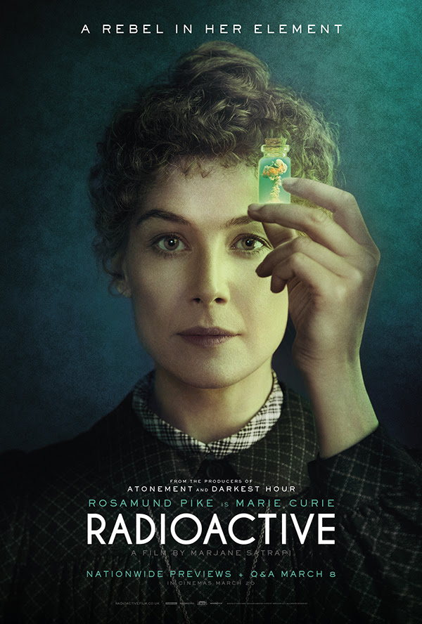 Book now to see a preview of 'Radioactive' starring Rosamund Pike as Marie Cure, this International Women's Day