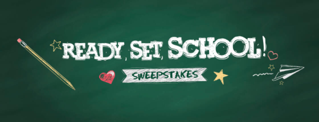 Ready, Set, School! Sweepstakes