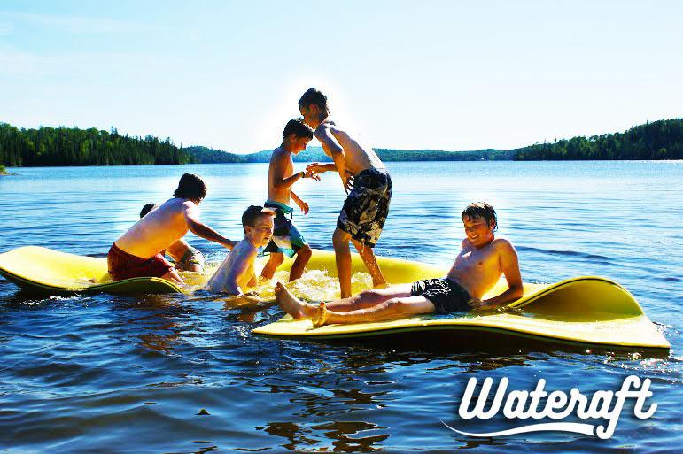 teens on wateraft