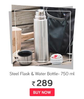 SK vacuum Steel Flask and water bottle- 750 ml