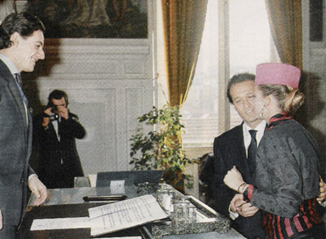 Nicolas Sarkozy, marie de Neuilly, mariant                   Thierry Gaubert dans les années 1980. © DR