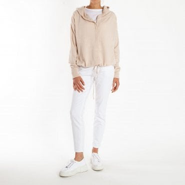 Fleur Cashmere Hoody in Natural Marl