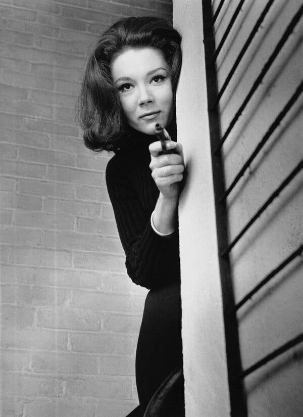 Diana Rigg, Emma Peel of 'The Avengers,' Dies at 82 - The New York Times