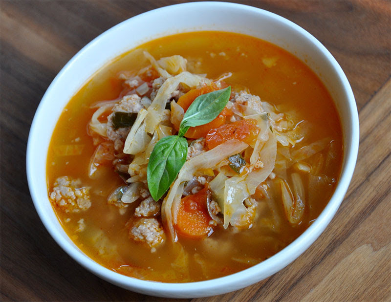 Homemade Sausage and Cabbage Soup