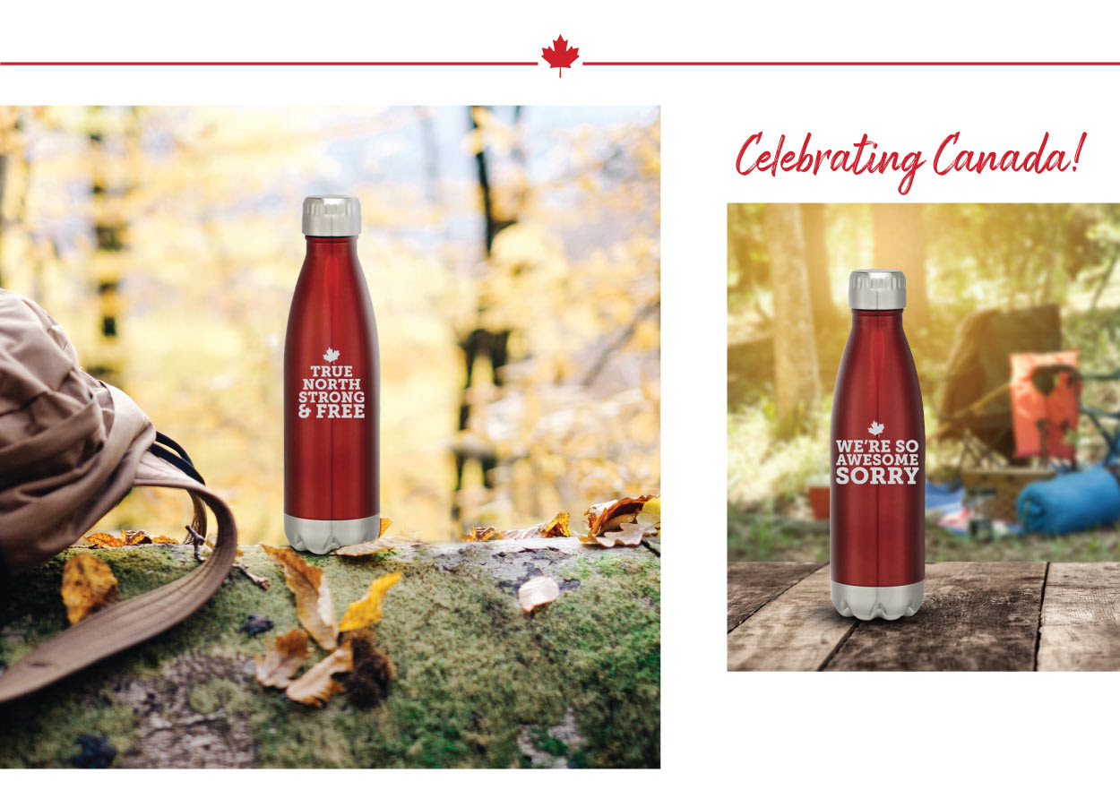 Celebrating Canada | Stainless Steel Bottles!