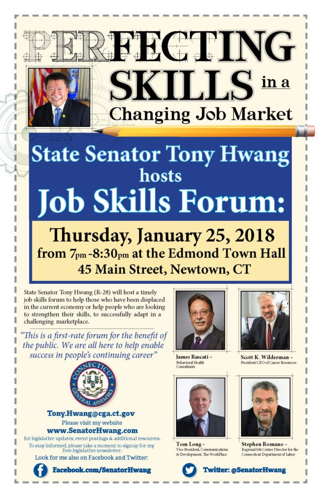 Tony Hwang - Perfecting Job Skills Forum 1-25-18