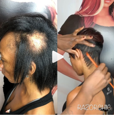 Part one of Razor Chic hair transformation reaction
