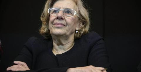 La exjuez Manuela Carmena en la presentación de su lista y proyecto con los que aspira a obtener en primarias la candidatura por Ahora Madrid al Ayuntamiento. EFE/Emilio Naranjo
