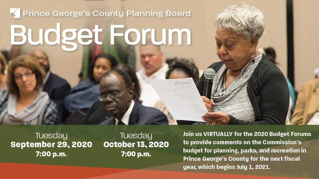 Planning Board Budget Forum