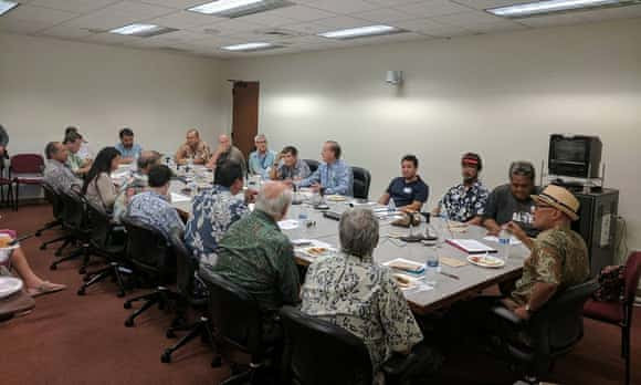 Twinkle Borge (second from right) at a July meeting with Hawaii officials.