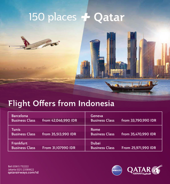 Up To 50 For Flight Offers From Indonesia By Qatar Airways Bali Plus Magazine