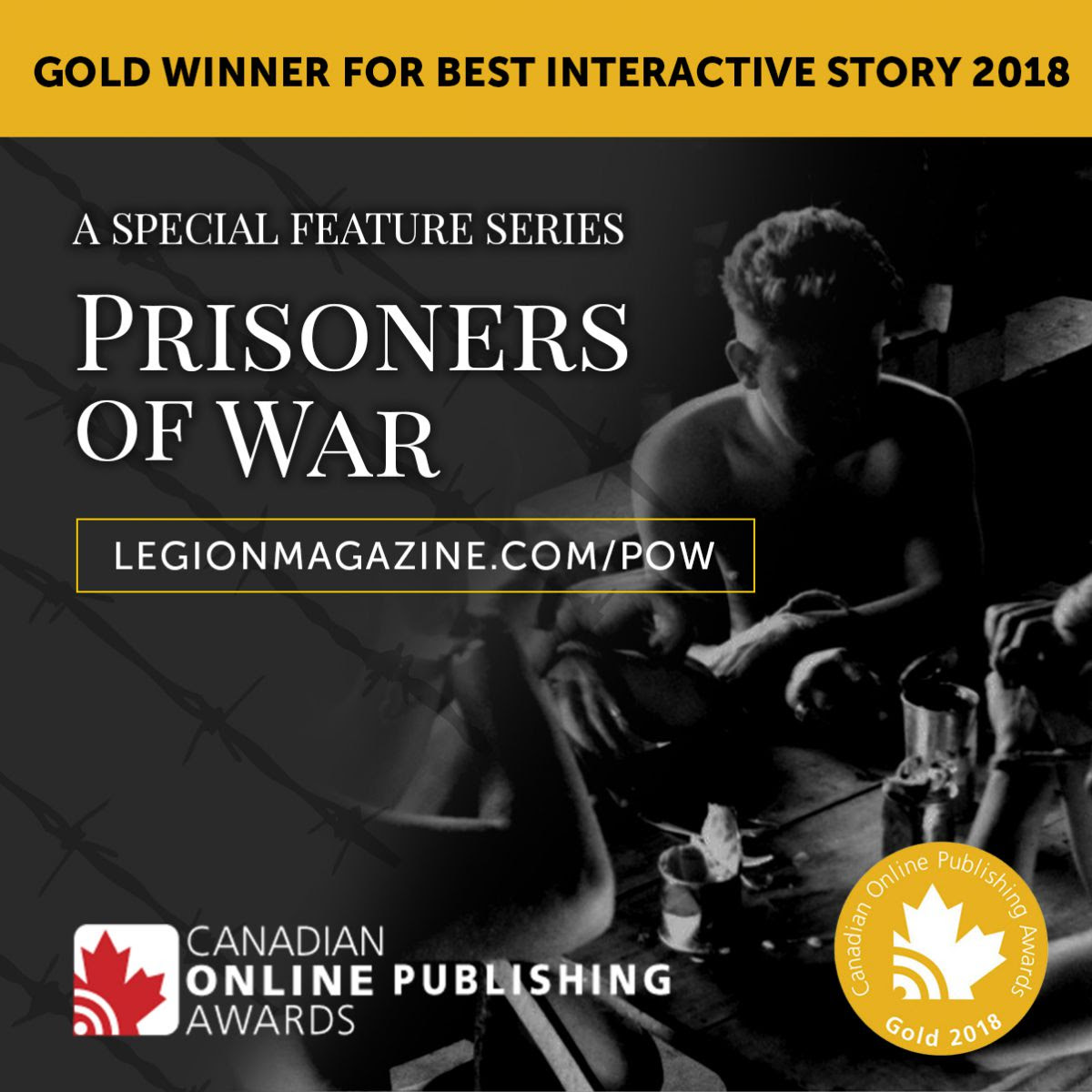 Prisoners of War – Awarded GOLD for Best Interactive Site!