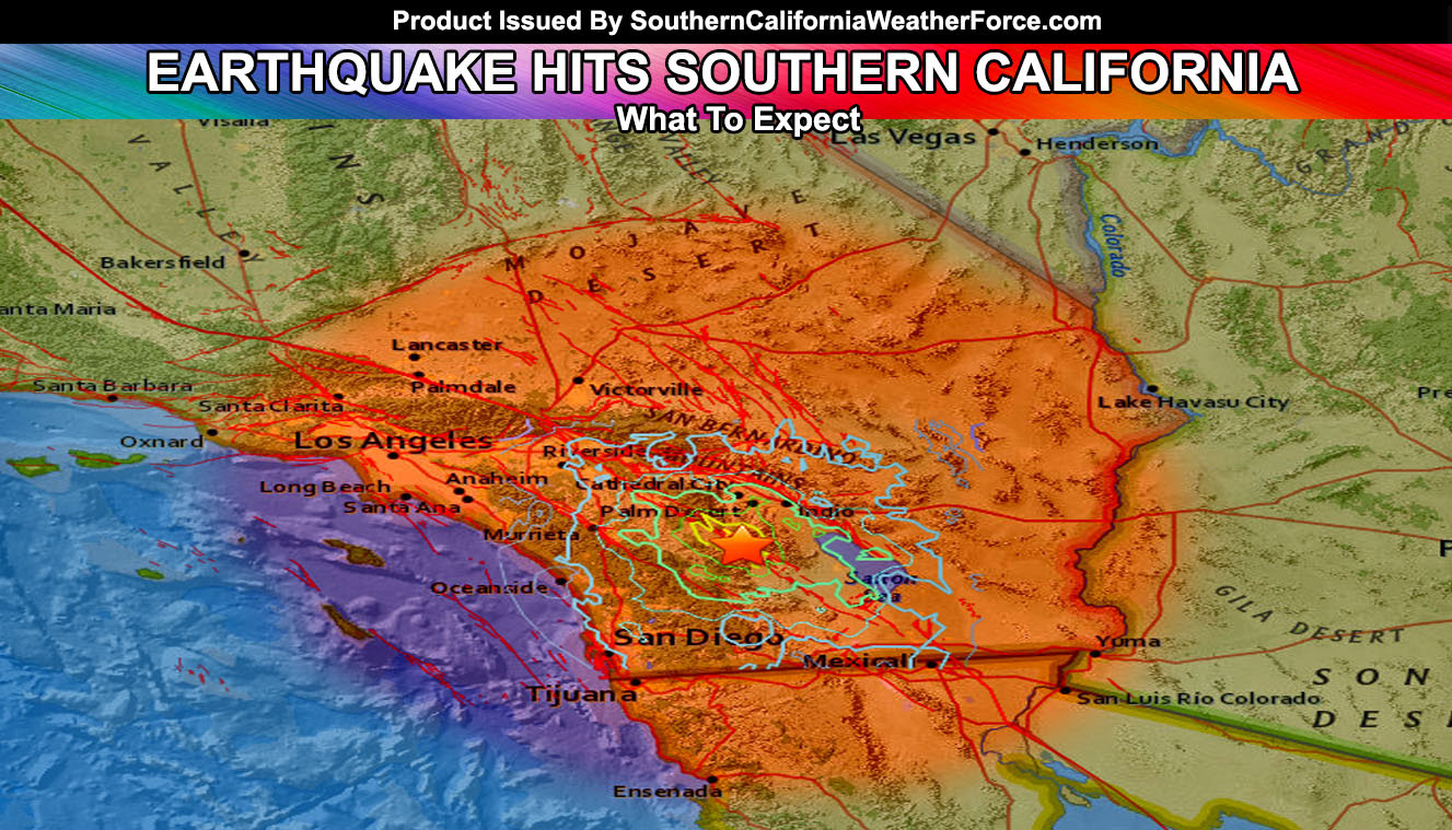 Earthquake Shakes Southern California On Friday Morning; Area Unsettled Over Next Week