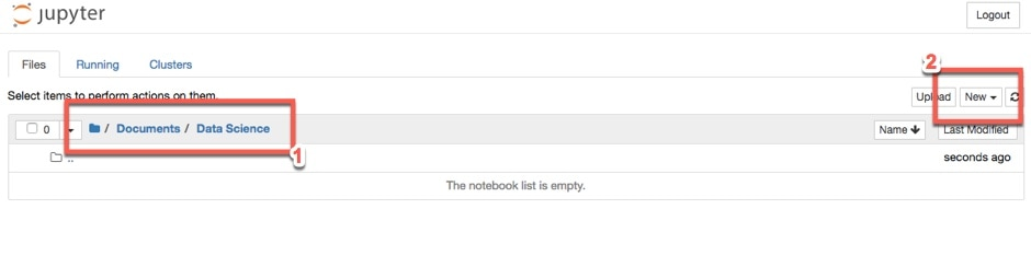 Navigating to Data Science Folder
