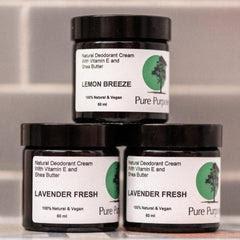 Pure Purpose Natural Deodorant Vegan