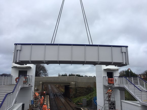 Bridge to improved accessibility at West Calder station