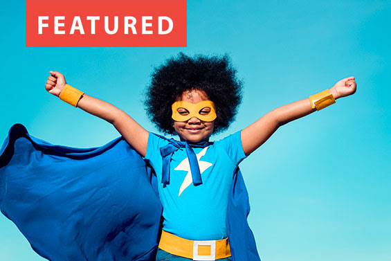 Photo of superhero student