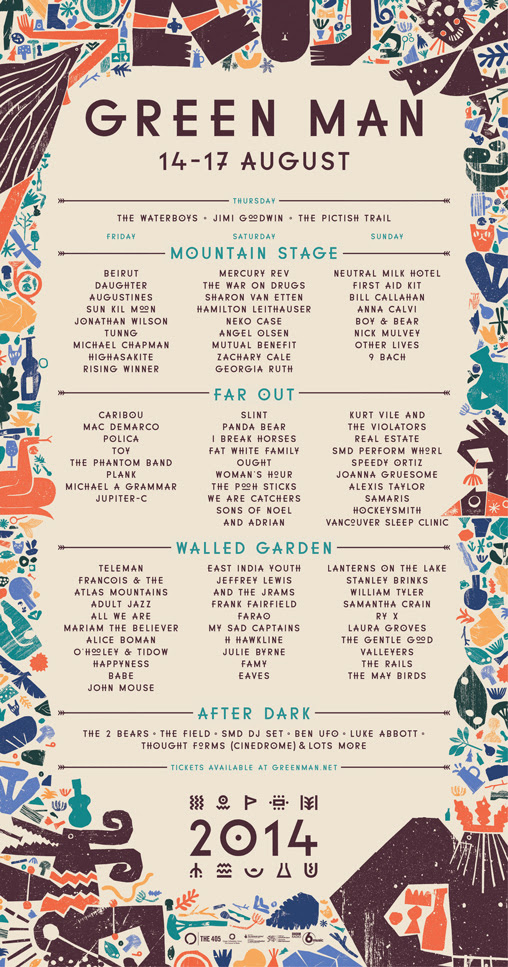 Green Man 2014 Day by Day running order - Summer Festival Guide