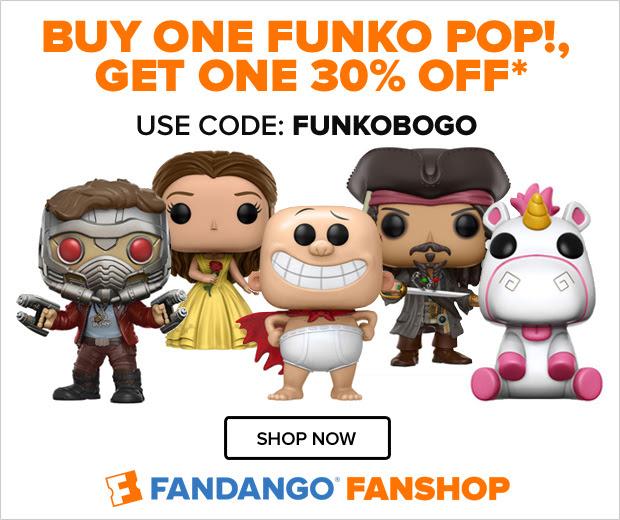 BUY ONE FUNKO POP!, GET ONE 30% OFF* USE CODE: FUNKOBOGO