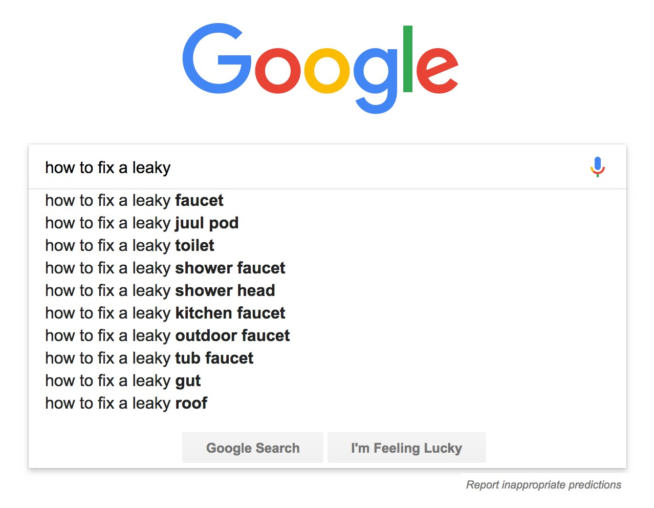 Google - Leaky Faucet - Traffic Strategy