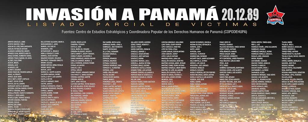 Lista de víctimas