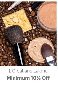 L'Oreal and Lakme Min.10% Off