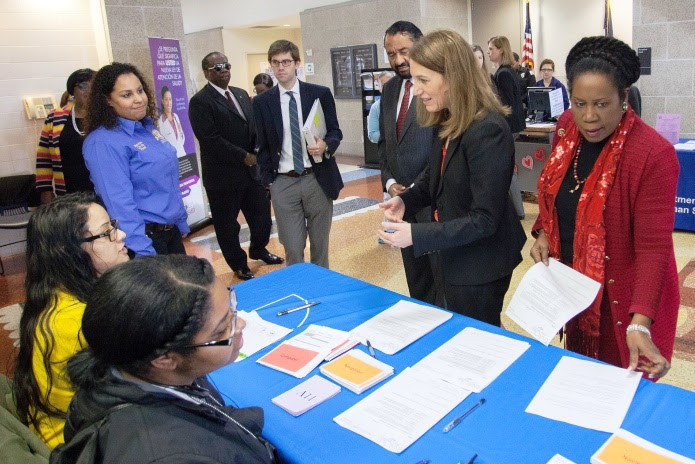 Secretary Burwell at a local Open Enrollment event in Texas.