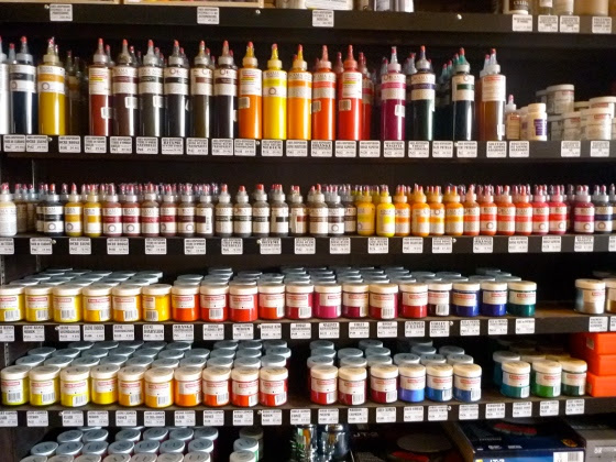 Pure pigments at Kama Pigments in Montreal.