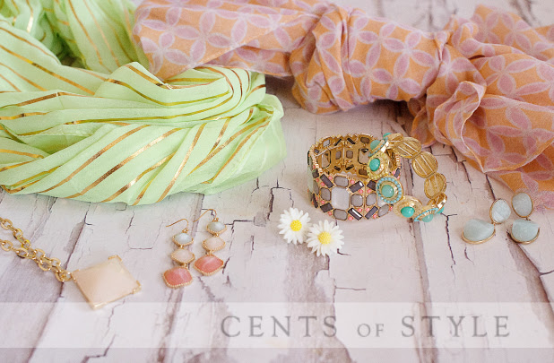 Fashion Friday- 4/4/14- Mint & Peach Accessories- 50% off & FREE SHIPPING with Code PEACHY