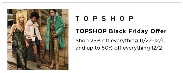 TopShop Best Black Friday Sales
