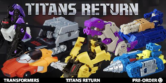 TRANSFORMERS TITANS RETURN - TITAN MASTERS