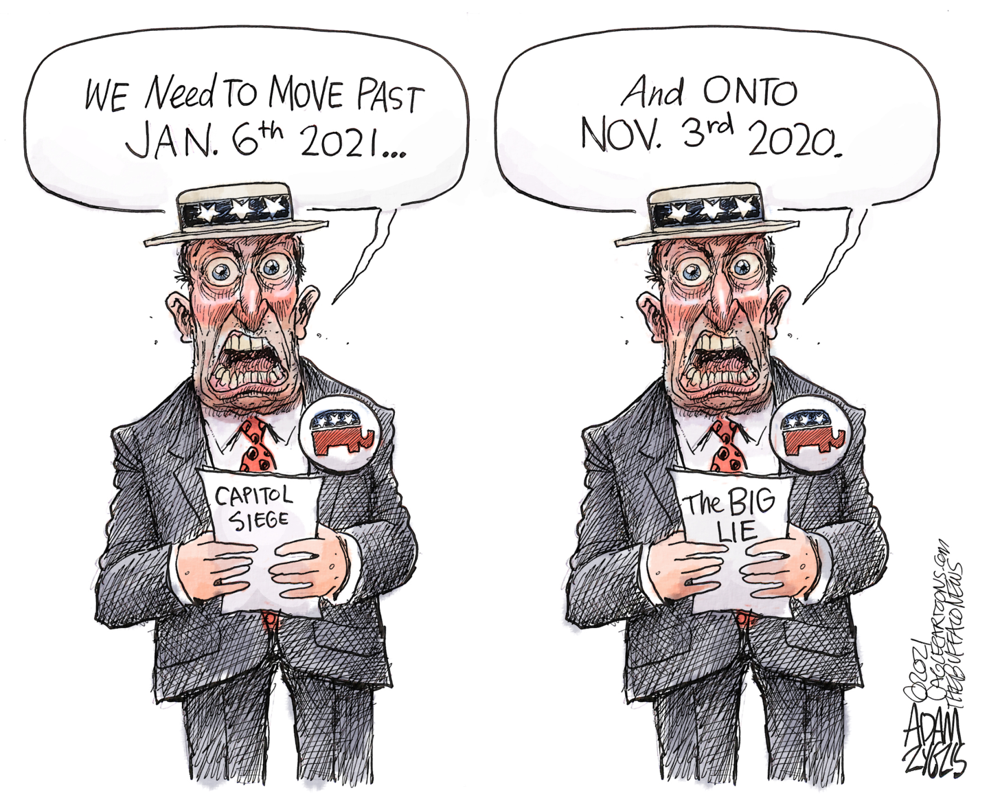 Republicans deny capitol seige on Jan 6th but stick to the Big Lie