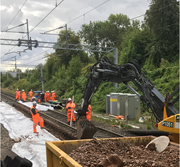 Drainage work at Hampton-in-Arden