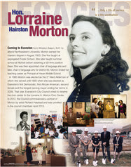 Legacies exhibit - Morton panel