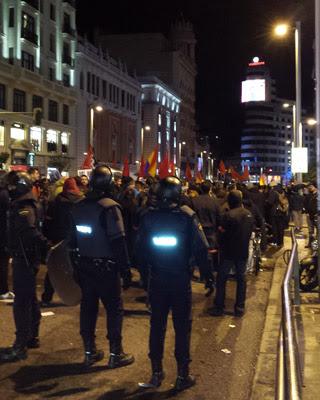 Miles de personas recorrieron el centro de Madrid contra la Ley de Seguridad Ciudadana.