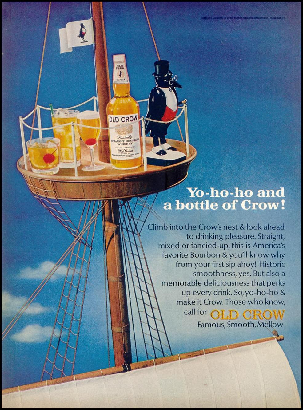 THE OLD CROW BOURBON WHISKEY TIME 03/11/1966 p. 92