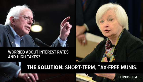 worried about interest rates and high taxes? the solution: short-term, tax-free munis.