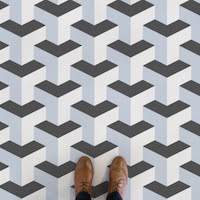 Giants Causeway |<br/>Abstract Cube Flooring