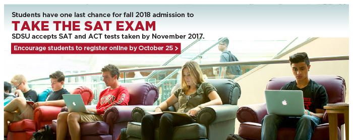Remember that your students need to take the SAT or ACT exams no later than November