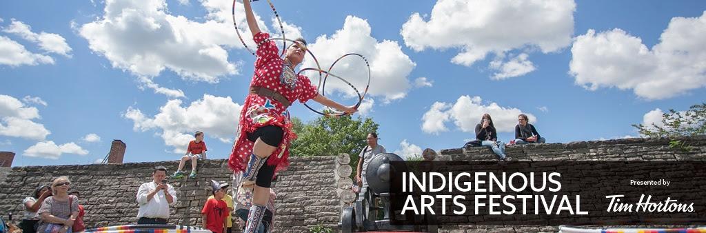 Hoop Dancer Rhonda Doxtator performs at the 2017 Indigenous Arts Festival.