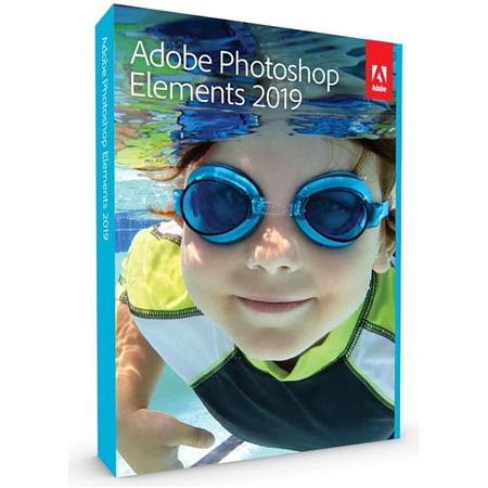 Photoshop Elements 2019 Software, Mac and Windows, Standard, DVD/Download Code